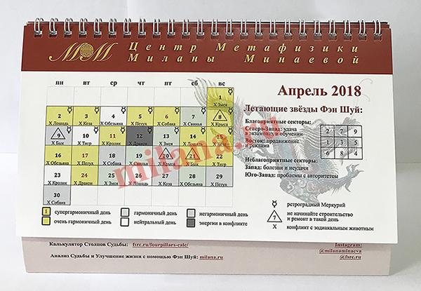 Календарь по Фэн Шуй и Китайской Астрологии 2018