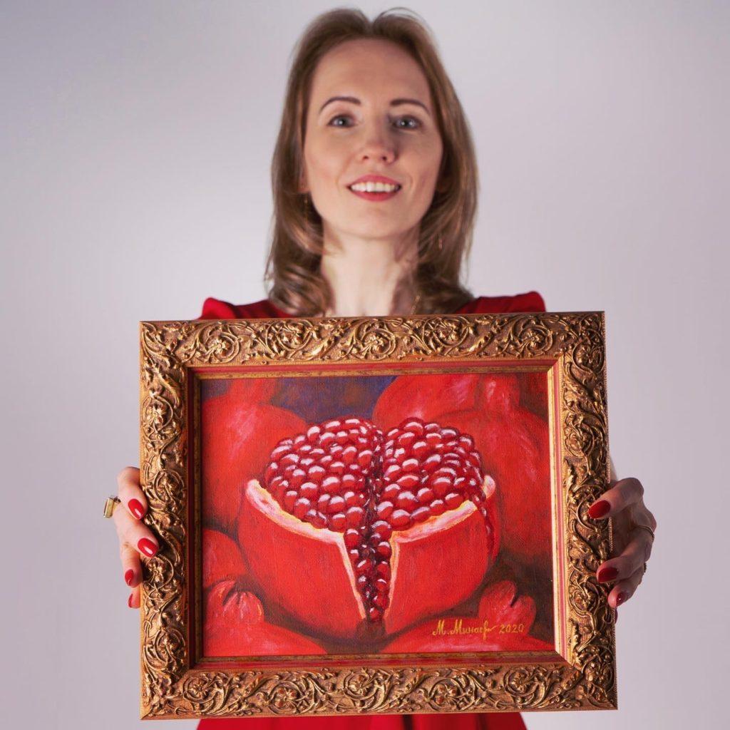 Милана Минаева - картина Гранат-Сердце - Milana.Ru