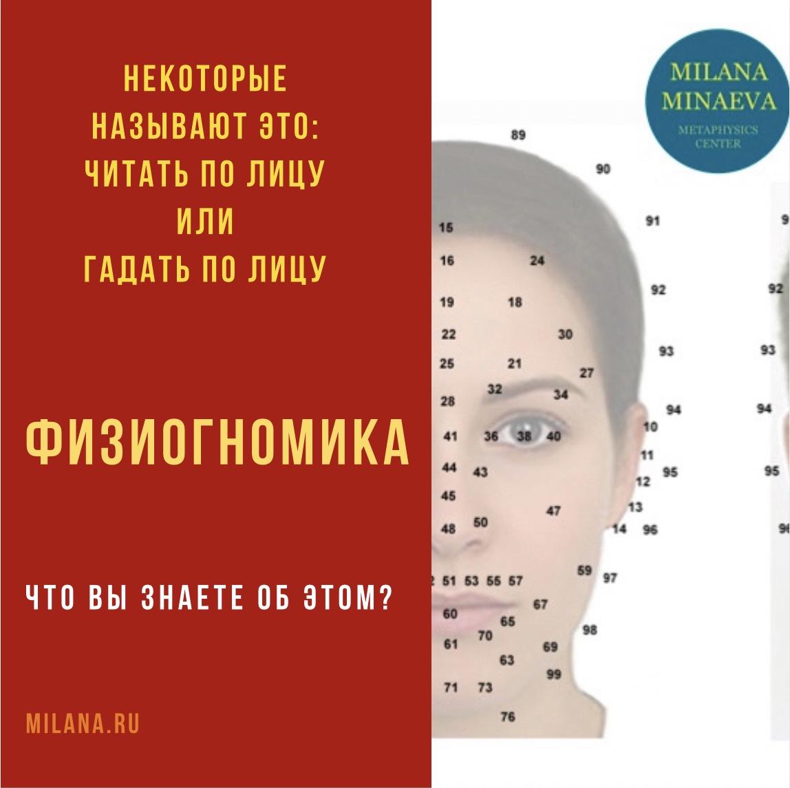 Физиогномика - Милана Минаева